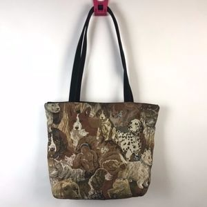 Danny K Beverly Hills Dogs Tapestry Tote Bag